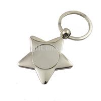 custom key holder polish metal cute star shaped keychain wholesale keychain blank keychain