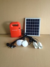 Factory direct new portable solar home kit with lighting and mobile phone charger