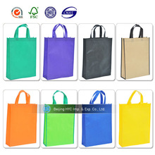 Manufacture reusable colorful foldable promotion pp non woven shopping bag with print logo