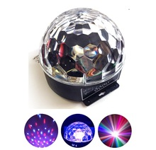 Top selling 6 colors changing led crystal ball american dj
