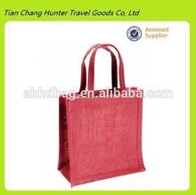 Eco-friendly reusable pink jute shopping bag grocery bag (Model H3155)