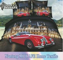 beautiful car design for cotton 3D Duvet cover bedding set