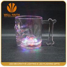 Led light skull mugs/Led flashing drink glass