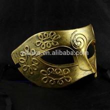 Masquerade Mask Electroplating Venetian rome greek warrior mask gold or silver color wholesale FC90086