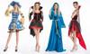 Ladies Pirate Fancy Dress Costume + Hat Halloween Fancy Dress Womens Costume