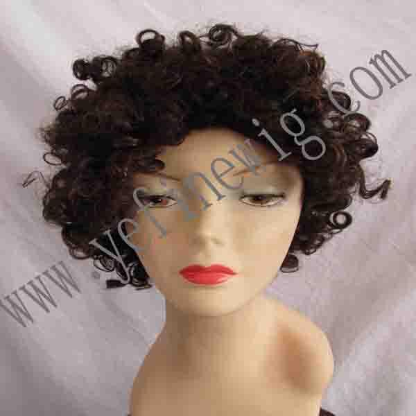 Black Woman Human Hair Wig 6