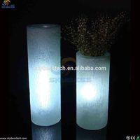 led decorative flower pot/illuminated flower vase