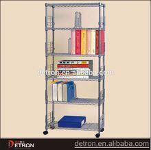 Steel metal floor store portable bookshelf