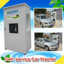 CE 80bar Coin/card operated self service high pressure car wash machine/self service pressure washer hot water