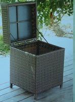 Outdoor garden patio wicker rattan cabinet container