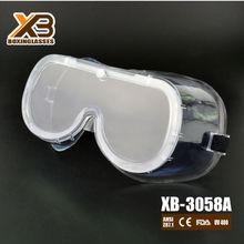 CE EN 166 anti-fog surgical splash goggles