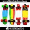 "Fade Pastel Penny Board 22"" Skateboards Complete Mini Longboard Bantam Cruiser Banana Long Skate board Retro Skates"