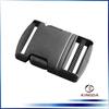 Plastic adjustable side release buckle