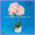 atacado 2014 novo design 62cm decorativos vasos de flores artificiais de orquídeas