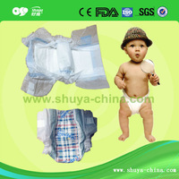 Colored Printed Disposable Sleepy Baby Diaper Nappies