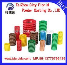 spray powder coating molten polyester powder coating baked by spray coated spring plastic spray powder coated