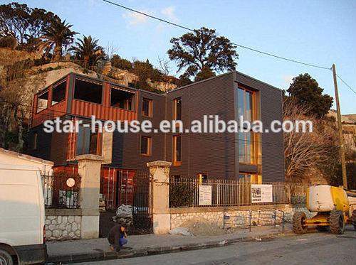 shipping container villa, prefabricated villa, modular home villa with ...