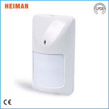 Heiman Factory Price wired wide angle body montion alarm support relay alarm N.O. or N.C. with mini size HM-810W