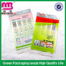 top grade quality bopp pen bag