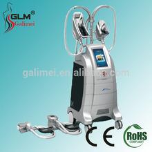 2014 portable fat freezing liposuction machine green red photon light vacuum suction