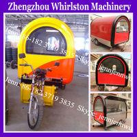 electric food kiosk cart/mobile food cart with wheels/motorcycle food cart