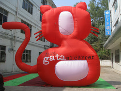 advertising oxford red giant inflatable cat/inflatable cat toy/cheap inflatable cat model