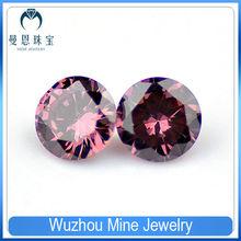Lab created jewelry round smoky cubic zircon gemstone