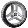 """6"""" Black And Gray Eva Tire Part PP Core Baby Stroller Wheels"""