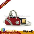 Hotsale Red Handbag 16GB Jewelry Diamond Flash Drive USB