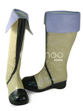 Beige Tales of Vesperia Yuri Lowell Round Toe PU Lolita Boots