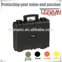 Tsunami waterproof durable hard protective plastic storage laptop case with sheet foam