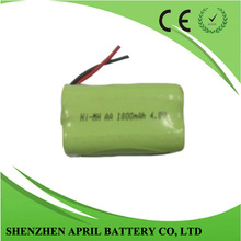 AA 1800mah 4.8V nimh rechargeable battery pack for power tool