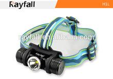 Rechargeable alumiunm cree led headlamp,battery operated 550 lumen fishing headlamp