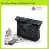 Wholesale Casual Style Nylon Shopping Bags Solid Black Color for Men and Women