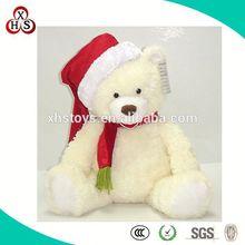 EN71 standard custom stuffed toy pure white teddy bear large size hot sale