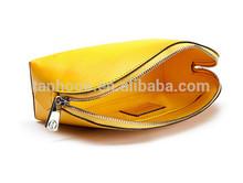 Soft Cosmetic Bag PU Leather Makeup Bag,Waterproof pierced cosmetic bag / leather makeup bags