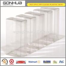 rectangular alibaba express plastic PVC/PET soft crease auto bottom modern transparent plastic packaging clear plastic boxes