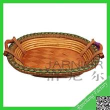 Caliente venta tejida de mimbre ovalada cesta bandeja / de la navidad de la bandeja de la cesta plana de la bandeja