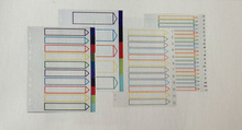 stationery school supply office supply fashion pp binder binder document bag indexed organiser file index