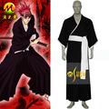 vente chaude eau de javel 6th division lieutenant abarai renji cosplay costume noir des hommes kimono japonais costumes pour halloween party