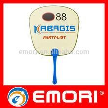 Best selling useful PP plastic hand fans sticks