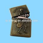 USB brass lighter/antique brass disposable lighter