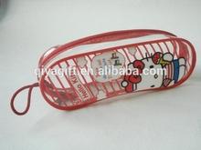 Beauty design PVC clear plastic cute pencil case for promotion