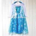 las niñas congelados elsa elsa vestido de princesa venta al por mayor congelado bebé vestido de fiesta vestido