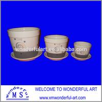 2014 hot sale square black ceramic flower pot
