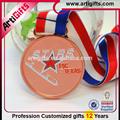 qualidade superior de cobre metal medalha de honra do jogo