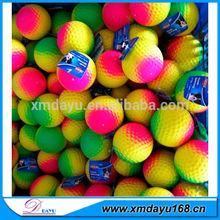 Promotional Rubber Fluorescent golf Ball / Foam color golf ball