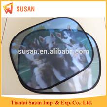 customized foldable special shape mesh car side window sunshade