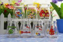 popular pudding glass jar, fashion glass pudding jar