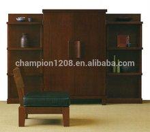 Champion brand customized antique bookshelf, cupboard, wooden wardrobe closet